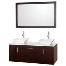 "55"" Arrano-55 Espresso Vessel Sink Bathroom Vanity :: Bathroom Vanities :: Bath"