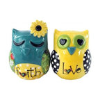 "Westland - 2.75 Inch ""Faith and Love"" Multicolor Owls Salt and Pepper Shakers - This gorgeous 2.75 Inch ""Faith and Love"" Multicolor Owls Salt and Pepper Shakers has the finest details and highest quality you will find anywhere! 2.75 Inch ""Faith and Love"" Multicolor Owls Salt and Pepper Shakers is truly remarkable."