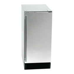 "Orien USA - Stainless Steel Clear Cube Ice Maker, 44 LB Capacity - Dimensions: 33.5"" high x 14.6"" wide x 23"" deep"