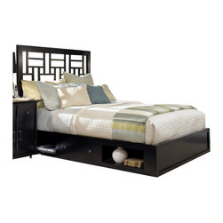 Broyhill - Broyhill Perspectives Lattice Low Underbed Storage Bed in Graphite - Broyhill - Beds - 4444LatticeLowProStorageBed - About This Product:
