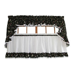 Ellis Curtain - Ellis Black Cherries Curtains - 730462535191 - Shop for Window Treatments from Hayneedle.com! About A.L. Ellis Inc.Established in 1920 by Arthur Linwood Ellis A.L. Ellis Inc. is a 5th generation family owned and operated manufacturing company. With their headquarters located less than an hour away from the manufacturing facility they can easily control the wholesale business and produce their mail order catalogs. Their hand-made products consist of curtains draperies top treatments bedding toss pillows and chair pads.The main objective for A.L. Ellis Inc. is to always provide customers with high-quality products at a competitive price and in a timely manner. Remaining committed to the customer A.L. Ellis Inc. is a trusted company you can count on. Begin decorating your house with any of their products!