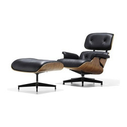 Herman Miller - Herman Miller | Eames® Lounge Chair with Ottoman, New Oiled Walnut - Quick Ship - Design by Charles & Ray Eames, 1956.