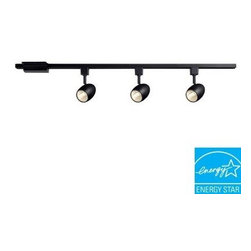 Hampton Bay - Hampton Bay 3-Light 39.37 in. Black LED Dimmable Track Lighting Kit 16033KIT-BK - Shop for Lighting & Fans at The Home Depot. The Hampton Bay 3-Lighting Track-Lighting Kit has two beautiful finishes, white and black. There are 39.37 in. linear track, floating power canopy and 3 multi-directional track heads included, and it comes with mounting hardware. This fixture use 120 Volt, LED lamp included, warm light with best feeling. Elegant outlook is suitable for many different areas. Dimmable function can be given different light effective by using dimmer.