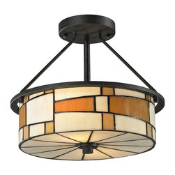 Dale Tiffany - New Dale Tiffany Ceiling Fixture Black Metal - Product Details
