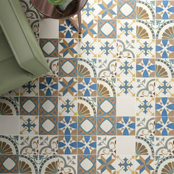 The Revival Series- 7-3/4 in. x 7-3/4 in. Ceramic Floor and Wall Tile - Photo by Merola Tile. This eclectic mix of tiles with a variety of influences will make a fantastic addition to your space!