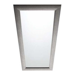 Azzurra - Azzurra | Intreccio Vertical Mirror - Made in Italy by Azzurra.The Intreccio Horizontal Mirror brings unwavering function and intriguing textures into modern spaces. This wide, eye-catching mirror offers crystal clear reflections and a uniquely textured frame that comes in a variety of finishes and sizes. Carefully finished and crafted by hand, the intricately detailed texture of the frame gives life and dimension to an overlooked bathroom wall or vanity. Enjoy the full-length, glare-free mirror reflection from the Intreccio Vertical Mirror as well as its artistically textured frame. Product Features: