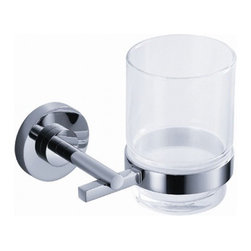 "Fresca - Alzato Tumbler Holder - All of our Fresca bathroom accessories are made with brass with a triple chrome finish and have been chosen to compliment our other line of products including our vanities, faucets, shower panels and toilets.  They are imported and selected for their modern, cutting edge designs.  Dimensions 4.25""W X 4""D X 3.75""H; Finish Chrome; Shipping Free Shipping via FedEx 7 - 10 Business Days"