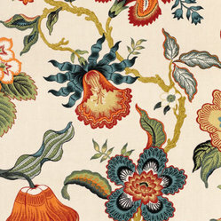 Hot House Flowers fabric, in Spark