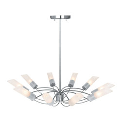 Access Lighting - Access Lighting 50510-BS-FST Solar Brushed Steel 10 Light Chandelier - Access Lighting 50510-BS-FST Solar Brushed Steel 10 Light Chandelier