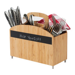 Cutlery Carrier with Chalkboard Label