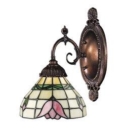 Elk Lighting - Elk Lighting 071-TB-09 Mix-N-Match Traditional Wall Sconce - Mix-N-Match 1-Light Sconce In Tiffany Bronze