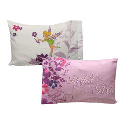 Store51 LLC - Tinkerbell Pillowcase Set 2-Piece Powder Purple Bed Accessories - Features: