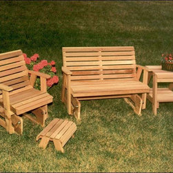 Fifthroom - Cedar Classic Rocking Glider Furniture Collection - A Glider collection will keep everyone in top-notch comfort while looking great.  Buying a set is not only a money-saving solution; it also ensures a perfectly put-together collection.  This collection includes: