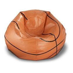 Ace Bayou Basketball Bean Bag Chair - When they're not tearing up the court, you're little basketball star deserves some time to kickback. The Ace Bayou Basketball Bean Bag Chair is perfect for unwinding after a solid set of shootin' hoops. This ballin' bean bag chair features an easily cleaned vinyl exterior and plush, comfortable bead filling.About Ace Bayou CorporationAce Bayou Corporation was founded in 1986 and has grown into a group of diverse, lifestyle-focused divisions. They all feature innovative, quality products at prices that allow everyone to enjoy the benefits. Their lifestyle furniture division features youth and adult casual furniture, including unique bean bags, video rockers, recliners, and special seating products. As a recognized innovator in these categories, Ace Bayou provides products that fit your lifestyle.