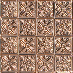 """Decorative Ceiling Tiles - Flower Power - Copper Ceiling Tile - 24""""x24"""" - #0612 - Find copper, tin, aluminum and more styles of real metal ceiling tiles at affordable prices . We carry a huge selection and are always adding new style to our inventory."""