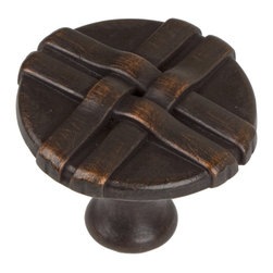 "GlideRite Hardware - GlideRite 1-5/16"" Weaved Knob Oil Rubbed Bronze - Add a stylish look to your cabinets with this weaved oil rubbed bronze knob.  Each knob is individually packaged to prevent damage to the finish and a standard installation screw is included."
