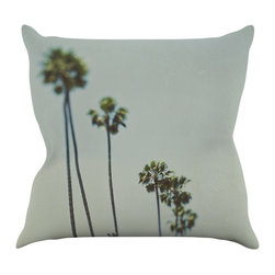 "Kess InHouse - Myan Soffia ""Timeless"" Palm Trees Throw Pillow (16"" x 16"") - Rest among the art you love. Transform your hang out room into a hip gallery, that's also comfortable. With this pillow you can create an environment that reflects your unique style. It's amazing what a throw pillow can do to complete a room. (Kess InHouse is not responsible for pillow fighting that may occur as the result of creative stimulation)."