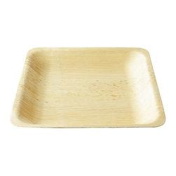 "Bamboo Studio - Bamboo Studio 10"" Square Bamboo Deep Plate 8/pk - Made from 100% natural aged bamboo sheath."