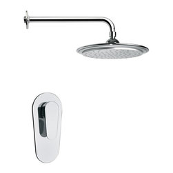 Remer - Round Modern Rain Shower Faucet Set - A shower should have an appealing style to match its functionality.