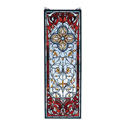 Meyda Tiffany - Meyda Tiffany Versaille Quatrefoil Window X-67237 - From the Versaille Quatrefoil Collection, this Meyda Tiffany window features an intricate pattern that will rival even the most beautiful of stained glass windows. With a pattern that is reminiscent of a beautiful Persian rug, this elegant design features whirls, curls and beautiful coloring throughout.