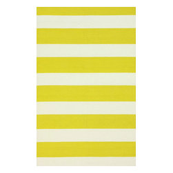 """nuLOOM - Solid & Striped 7' 6""""x9' 6"""" Yellow Hand Hooked Area Rug Solid Str - Made from the finest materials in the world and with the uttermost care, our rugs are a great addition to your home."""