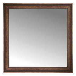 """Posters 2 Prints, LLC - 42"""" x 42"""" Arqadia Bronze Traditional Custom Framed Mirror - 42"""" x 42"""" Custom Framed Mirror made by Posters 2 Prints. Standard glass with unrivaled selection of crafted mirror frames.  Protected with category II safety backing to keep glass fragments together should the mirror be accidentally broken.  Safe arrival guaranteed.  Made in the United States of America"""