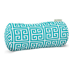Majestic Home - Outdoor Pacific Towers Round Bolster Pillow - Add a splash of color and a little texture to any environment with these great indoor/outdoor plush pillows by Majestic Home Goods. The Majestic Home Goods Round Bolster Pillow will add additional comfort to your living room sofa or your outdoor patio. Whether you are using them as decor throw pillows or simply for support, Majestic Home Goods Round Bolster Pillows are the perfect addition to your home. These throw pillows are woven from Outdoor Treated polyester with up to 1000 hours of U.V. protection, and filled with Super Loft recycled Polyester Fiber Fill for a comfortable but durable look. Spot clean only.