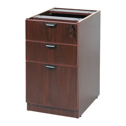 Boss Chairs - Boss Chairs Boss Deluxe Pedestal-Full Box/Box/File in Mahogany - The deluxe locking pedestal has two box drawers and a file cabinet. The Mahogany laminate is durable yet attractive