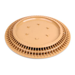 Color Match Pool Fittings - Pebble Top Pool Drain Cover, Tan, 10-Inch - You will love how our unique Pebble-Top Drain Cover blends in perfectly with your pool. Simply apply the same plaster, aggregate or tile being applied to your pool, directly to the top of our patented 10-inch drain cover for a perfect match.