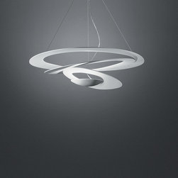 Pirce suspension, design by Giuseppe Maurizio Scutell - 2008 - cable suspension mounted luminaire for indirect LED or halogen lighting