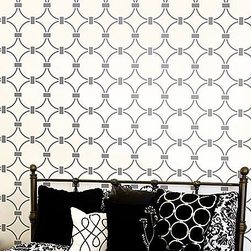 Chain Link All-Over Stencil - And to create an easy and unique look with paint, why not try a stencil? I've used these on fabric and walls, and they work great. They come in all sizes and designs, so you're sure to find one you like.