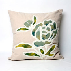 Trans Ocean Import - Gabbana Seascape Pillow - Liora Manne's pillows are made using her patented Lamontage process, now with 100% polyester microfiber for an extra-soft hand. The zipper-closure covers are removable for easy-care and are hand washable. Indoor/outdoor and antimicrobial. Handmade. Gabbana is a work of art that combines intricate hand crafting with modern technology.   - Designed by Liora Manne  - 100% Polyester  - Hand Made  - Easy Care and Maintenance Trans Ocean Import - 7SB2S317294