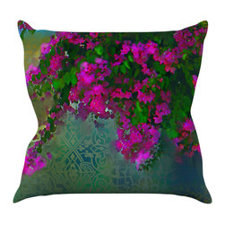 "Kess InHouse - S. Seema Z ""Khushbu"" Purple Green Throw Pillow (20"" x 20"") - Rest among the art you love. Transform your hang out room into a hip gallery, that's also comfortable. With this pillow you can create an environment that reflects your unique style. It's amazing what a throw pillow can do to complete a room. (Kess InHouse is not responsible for pillow fighting that may occur as the result of creative stimulation)."
