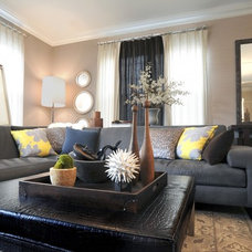 Traditional Living Room by K Kong Designs