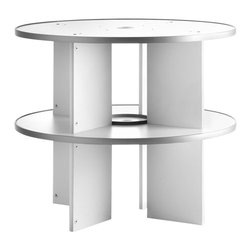 Empire Office Solutions - Moll Spin and File Binder-2 Tier Extension in White Wood with Laminate - Expansion kit enables you to expand any existing carousel by an additional two levels to a maximum of six levels per carousel.