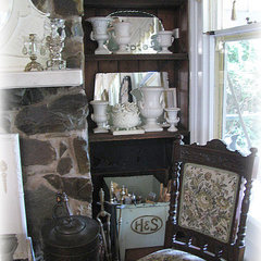 Time Worn Style ~ Fireplace shelving