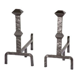 Stone County Ironworks Forest Hill Andirons - 2 Piece Set - Bring home the Stone County Ironworks Forest Hill Andirons - 2 Piece Set and keep the fire roaring in your hearth. It keeps the fire wood from rolling off and lifts logs from the bottom of the pit to keep the embers glowing. Made of iron, the andirons will see through generations. Neatly stack the wood in the fireplace with the andiron for support and make your home cozy and welcoming to family and friends.