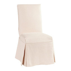Ballard Designs - Parsons Chair Slipcover in Suzanne Kasler Signature 13oz Linen - Coordinates with Suzanne's linen panels, tablecloths & pillows. Removes easily for cleaning or a fresh change of seasonal color. Dry clean. Imported. Suzanne's best-selling line of luxurious linens now include slipcovers designed exclusively to fit our signature Parsons Chair. Hand finished with self-piped seams and custom fitted to prevent shifting and bunching.Suzanne Kasler Linen Parsons Chair Slipcover features: . . . . *Monogramming available for an additional charge.*Allow 3 to 5 days for monogramming plus shipping time.*Please note that personalized items are non-returnable