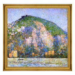 """Frederick Childe Hassam-16""""x16"""" Framed Canvas - 16"""" x 16"""" Frederick Childe Hassam Telegraph Hill - San Fraicisco framed premium canvas print reproduced to meet museum quality standards. Our museum quality canvas prints are produced using high-precision print technology for a more accurate reproduction printed on high quality canvas with fade-resistant, archival inks. Our progressive business model allows us to offer works of art to you at the best wholesale pricing, significantly less than art gallery prices, affordable to all. This artwork is hand stretched onto wooden stretcher bars, then mounted into our 3"""" wide gold finish frame with black panel by one of our expert framers. Our framed canvas print comes with hardware, ready to hang on your wall.  We present a comprehensive collection of exceptional canvas art reproductions by Frederick Childe Hassam."""