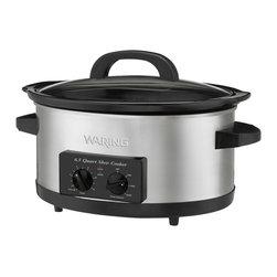 Waring Pro - Waring Pro 300-Watt 6.5-Quart Slow Cooker - Brushed Stainless Steel body