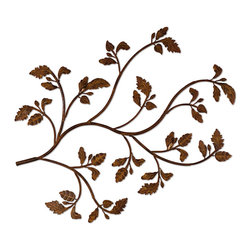 Uttermost - Distressed Brown Rust Rusty Branch Plaque - Distressed Brown Rust Rusty Branch Plaque