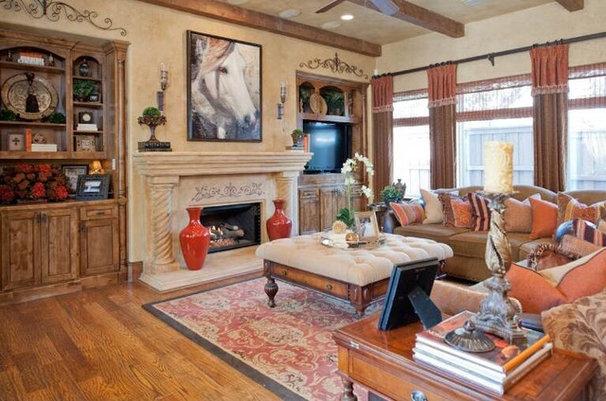 Mediterranean Living Room by Karyn Dismore Interiors