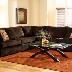 Chelsea Home Furniture - Carrie 3 pc. Sectional - 3181-SEC - Soft and comfortable