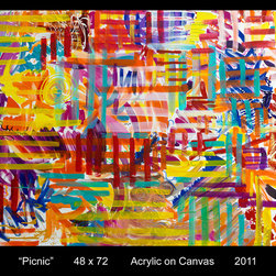 Picnic - Acrylic on Canvas...prints and giclees available...
