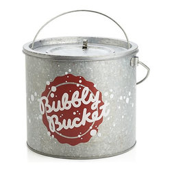 """Bubbly Ice Bucket - The Fourth needs sparklers and sparkling wine. House your vino in this """"Bubbly Bucket"""" from Crate & Barrel."""