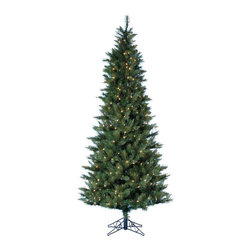 Kurt Adler - Kurt Adler 4.5-foot Pre-lit Classic Green Tree - Perfect for decorating when space is somewhat limited,this 4.5' tree has a full,realistic look with 419 tips,and has a metal base,a 29-inch girth,and is pre-lit with 200 clear UL lights for a festive glow.