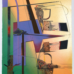 William Schwedler, Sheer Numbers, Serigraph - Artist:  William Schwedler, American (1942 - 1982)