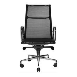 Wobi Office - Wobi Reed Mesh Highback - Just because you work from home doesn't mean you shouldn't roll around in style. This quality office chair will make you feel like the president of a large corporation, even if you are your only employee.