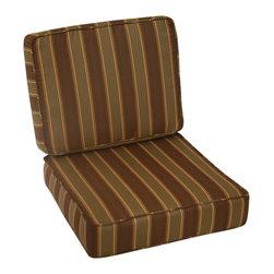 Trijaya Living - Sunbrella Outdoor Universal Patio Furniture Club Chair Cushions, Redwood - Sunbrella Outdoor Universal Patio Furniture Club Chair Cushions