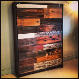Beds - Reclaimed Barn Wood and Steel Murphy Bed - Thomas Porter